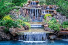 Having a pool sounds awesome especially if you are working with the best backyard pool landscaping ideas there is. How you design a proper backyard with a pool matters. Luxury Swimming Pools, Natural Swimming Pools, Luxury Pools, Dream Pools, Swimming Pool Designs, Natural Pools, Ideas De Piscina, Backyard Pool Landscaping, Pool Waterfall