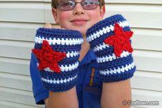 Free Crochet pattern - Captain America Gloves
