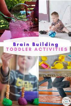 These easy toddler activities are perfect for 2 year olds to do! Each educational idea is based indoors, making them ideal for any time of the year! There are sensory activities, simple crafts, fun science and STEM activities, and even no prep and independent ideas! Educational Activities For Preschoolers, Science For Toddlers, Indoor Activities For Toddlers, Activities For 2 Year Olds, Calming Activities, Creative Activities For Kids, Montessori Activities, Stem Activities, Infant Activities