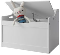 Lola Toy Box in White Toy Storage Organiser Noa & Nani: Amazon.co.uk: Kitchen & Home