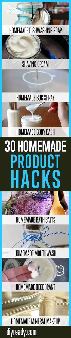 30 Homemade Product Hacks You Will Never Buy Again | Household Cleaning Products You Can Make At Home By DIY Ready. http://diyready.com/30-homemade-household-product-hacks-never-buy-these-products-again/
