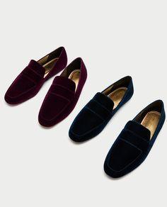 Image 4 of VELVET LOAFERS from Zara