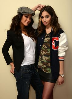 Emmanuelle Chriqui and Meaghan Rath pose for a portrait during the 2014 Slamdance Film Festival at the Getty Images Portrait Studio at the Village At The Lift on January 19, 2014 in Park City, Utah.