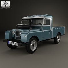 Land Rover Series I 107 Pickup 1958 3d model from humster3d.com. Price: $75