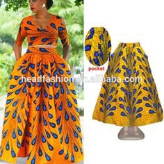 Source Queency In Stock Item New Design African Printed Maxi Skirt in Ankara Style on m.alibaba.com