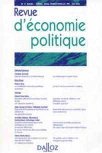 Revue d'économie politique 2009/2