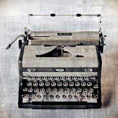 Vintage Royal Typewriter Photo Print SIZE 8x8 - wall art, home decor (Vintage Decor For The Modern Home) $35