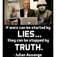 Si las guerras pueden ser iniciadas por mentiras...pueden ser detenidas por la verdad.