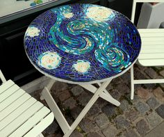 Mosaic Table. Van Gogh inspired