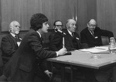 Opening of Wolfson Heat Treatment Centre (WHTC) which operated at Aston University from April 1973 until December 2004. The launch took place in the Byng Kendrick Lecture Theatre on 14th December 1973. Pictured (l. to r.): Sir Anthony Bowlby Bt (who officially opened the Centre), Alan J Hick (WHTC Manager), Dr Tom Bell (of Liverpool University / instigator of the WHTC concept), Prof Bill Alexander (Head of the Dept. of Metallurgy) and Dr. J Pope (Vice-Chancellor). Photo courtesy of  Alan J… Aston University, University Of Liverpool, Lecture Theatre, Sir Anthony, Centre, December, Product Launch, Concept, History