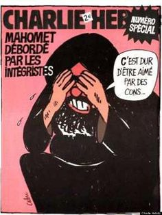 """Charlie Hebdo gained notoriety in 2006 for its portrayal of a sobbing Muhammad, under the headline  (""""Muhammad overwhelmed by fundamentalists""""). Within its pages, the magazine published 12 cartoons of the Prophet Muhammad, bringing unprecedented condemnation from the Muslim world. The French Council for the Muslim Faith eventually sued the weekly for the cartoon. The issue has since been considered the one which positioned Charlie Hebdo as a target for terrorist attacks."""
