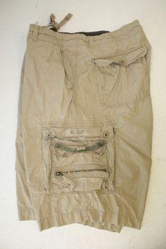 Unionbay Tall Cabana Kingpin Tan Cargo Shorts ( Big Mens 40 ) Zipper 2782 #UNIONBAY #CargoShorts