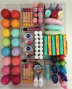 #eos #gum #burts #bees #nivea #lip #butter #balm