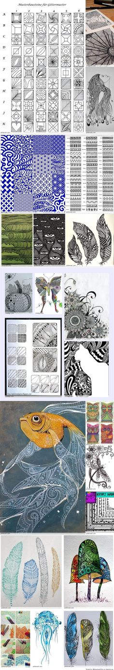 doodle AWESOME PATTERNS!! Zentangle Patterns