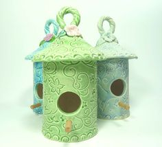 Birdhouse  Flower Blossom and Vines  Spring by MyMothersGarden, $31.00