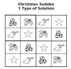 Christmas Sudoku Puzzles for Kids: Sample Solution for Kids Christmas Sudoku