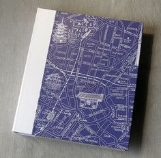 """IONA BINDING - Handmade album that measures 10,23"""" x 11,81"""". Covered with paper."""