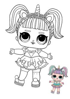 LOL Surprise Unicorn coloring page with sample Rapunzel Coloring Pages, Emoji Coloring Pages, Barbie Coloring Pages, Mermaid Coloring Pages, Cute Coloring Pages, Disney Coloring Pages, Coloring Books, Free Printable Coloring Sheets, Coloring Sheets For Kids