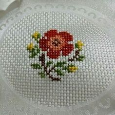 This Pin was discovered by Nur Small Cross Stitch, Cross Stitch Cards, Cross Stitch Borders, Cross Stitch Rose, Cross Stitch Samplers, Modern Cross Stitch, Cross Stitch Flowers, Cross Stitch Designs, Cross Stitching