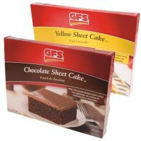 Gordon Food Service chocolate and yellow sheet cakes