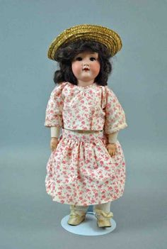 """Lot: 14"""" ARMAND MARSEILLE 390 BISQUE HEAD DOLL, Lot Number: 0054, Starting Bid: $20, Auctioneer: Leighton Galleries, Auction: FINE ARTS 