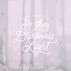 Open their eyes @shereadstruth