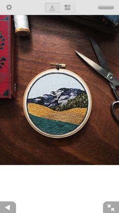 Embroidered landscape inspo