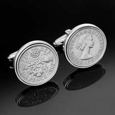 50th birthday Gift1964 Old English sixpence by worldcoincufflinks, $69.00