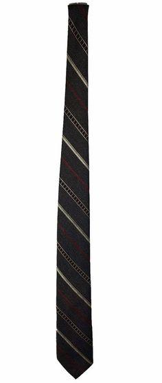 KETCH Mens Grey Diagonal Striped Polyester Dress Necktie Neck Tie 58in 3in #Ketch #Tie