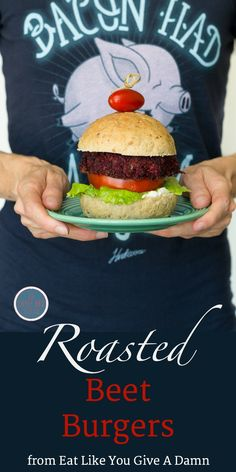 Roasted Beet Burgers from Eat Like You Give A Damn. Recipe on An Unrefined Vegan.