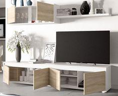 Nordic Living Room, Living Room Tv, Small Living Rooms, Living Room Designs, Small Flat Decor, Bookshelf Design, Coffee Table Design, Apartment Design, Interior Design
