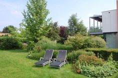Lekker in de luie stoel van het weer aan het genieten in jouw persoonlijke paradijsje.  #EssentievanGroen #tuin #ontwerp #tuinontwerper #landschap #architect #landschapsarchitect #zon #zomer #genieten #stoel #lounge #beplanting #groen