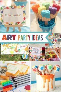 Art Themed Birthday Party Ideas Boy Parties Craft