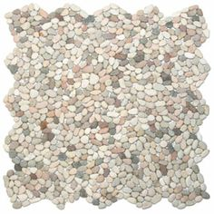 Mini Island Mix Pebble Tile x - River Rock Stone Tile Stone Mosaic Tile, Marble Mosaic, Mosaic Tiles, Pebble Tiles, Mosaic Wall, Wall Tile, Mosaics, Bathroom Floor Tiles, Tile Floor