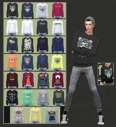Sweaters For Males at Gisheld » Sims 4 Updates
