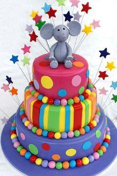 Cute colorful elephant Cake