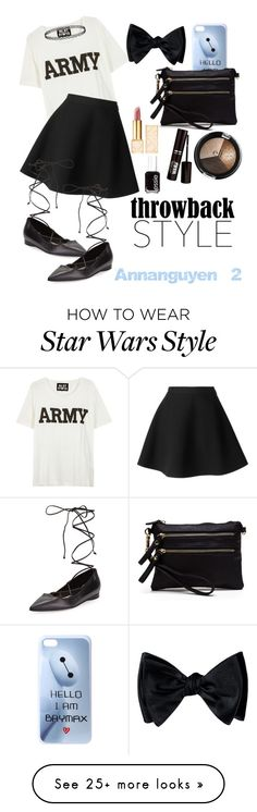 """A.R.M.Y"" by annanguyen-2 on Polyvore featuring NLST, MSGM, Michael Kors, Disney, Tory Burch, Essie, kpop and bts"