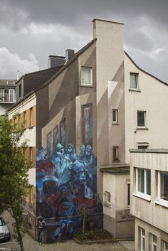 Sepe & Chazme unveil a new piece in Dortmund, Germany. Street Art News Street Art News, Street Art Graffiti, 3d Painting, City Style, Art Festival, Public Art, Urban Art, Art Gallery, Around The Worlds