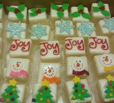 Christmas petit fours | Flickr - Photo Sharing!