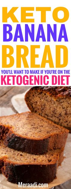 This easy and healthy keto banana bread is THE BEST! I'm so glad I found this amazing low carb keto banana bread recipe, now I can enjoy bread on my lchf diet! This banana bread is made with almond flour and is grain free and tastes so good! Definitely pinning this for later!