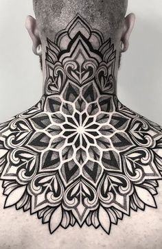 30 Coolest Neck Tattoos for Men in 2021 - The Trend Spotter Owl Neck Tattoo, Full Neck Tattoos, Neck Tattoo For Guys, Back Tattoo, Tattoos For Guys, Tattoo Forearm, Colorful Mandala Tattoo, Mandala Tattoo Sleeve, Tattoos Mandala