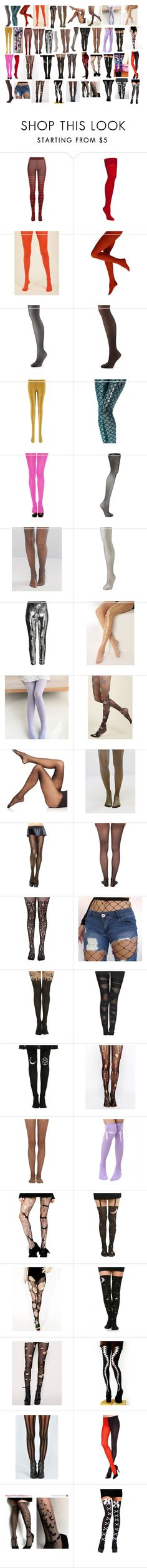 """Tights 2"" by spellcasters ❤ liked on Polyvore featuring Sonia Rykiel, Hanes, Falke, Gipsy, Berkshire, H&M, Commando, ASOS, Leg Avenue and Wolford"