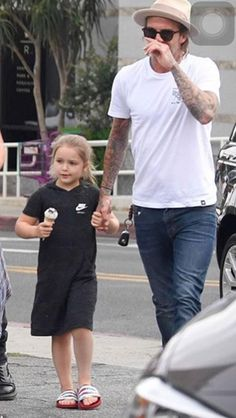 Harper Beckham when out with family to enjoy ice cream