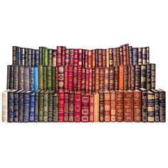 Acomplete set of the 100 Greatest Books Ever Written series from Easton Press. Each volume is boundin leather with hubbed spines, 22k gold accents, gilde