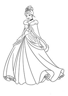Disney Princess Coloring Pages Colors Crafts Cinderella For Kids Sheets