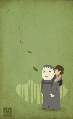Hodor and Bran Stark (from Game of Thrones)