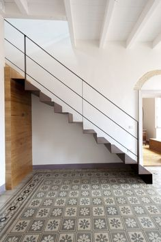 18 Outstanding Industrial Staircase Designs You'll Want In Your Loft – staircase Loft Staircase, Stair Railing, Banisters, Railing Design, Staircase Design, Industrial Stairs, Outdoor Stairs, Stairs Architecture, Modern Stairs