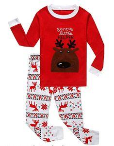f99df07e89 Family Feeling Little Boys Girls  Red Stripe Christmas Cotton Pajama Sets