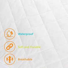 Bamboo Crib Mattress Protector - Waterproof Pad Cover Protects Baby Mattress from Infant & Toddler Diaper Leaks - Soft Padding, Fitted Sheet Design, Breathable, Hypoallergenic, Non-Toxic & Washable Baby Mattress, Baby Nursery Bedding, Mattress Protector, Bed Covers, Cribs, Organic Cotton, Bamboo, Fiber, Amazon