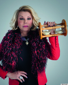 """I don't excercise. If God had wanted me to bend over, he would have put diamonds on the floor."" - Joan Rivers"
